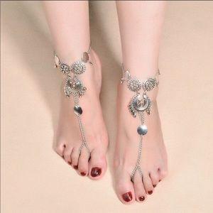 PAIR Barefoot Sandal Boho Ankle Bracelet